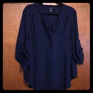 Navy Georgette Pullover Blouse - Size 1